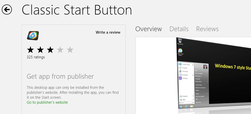 classic start menu button
