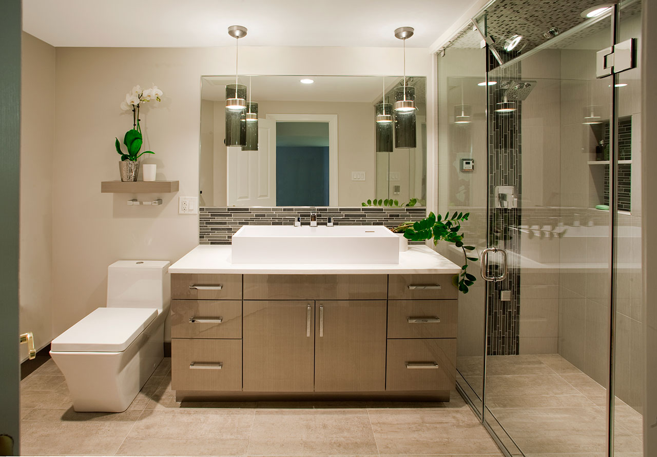 Contemporary Bathrooms Designs & Remodeling   HTRenovations on Bathroom Ideas Photo Gallery  id=42654