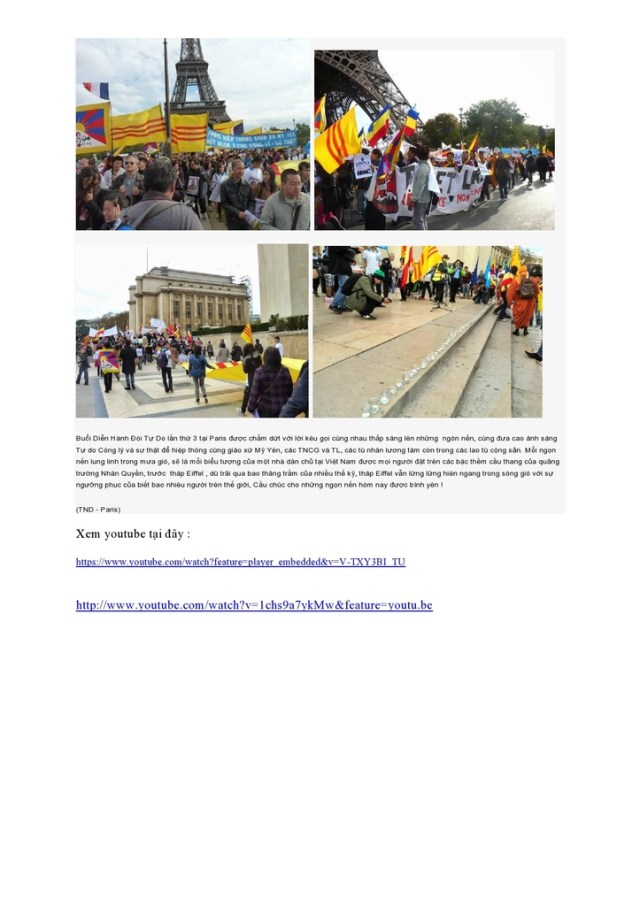 19.10.2013 - 6ème Marche Internationale pour la Liberté des minorités et des Peuples Opprimés