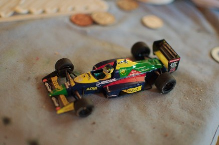 """A relic of Fouche's F1 days. """"To remind me of what is possible."""""""