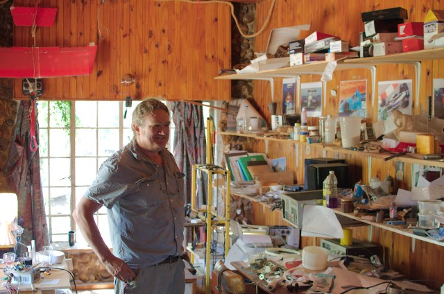 Fouche's workshop at home. A modern day alchemist's inner sanctum.