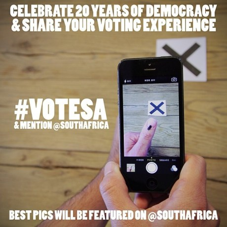 Tomorrow is voting day in South Africa and millions of people will be celebrating 20 years of democracy by exercising their hard fought right to vote. If you are voting, we want you to share your experience with the world! Use the tag #voteSA and mention @southafrica so that we can feature the best pictures throughout the day. Enjoy the experience!