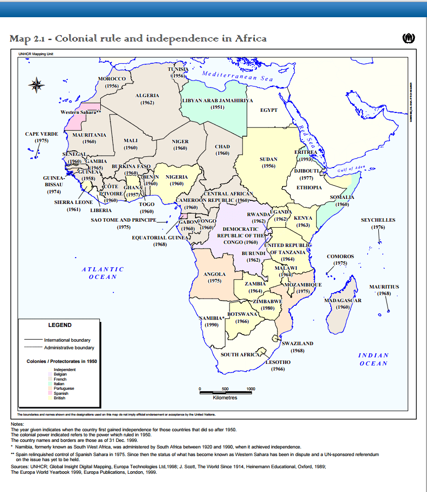 MAP MONDAY When Each African Country Gained Independence From - What does this map tells us about african independence