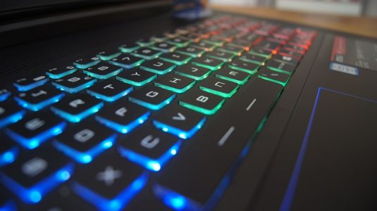 Fully customisable backlit keyboard is nice but gaming suffers a bit.