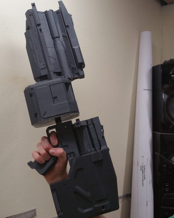 DOOM 3D Printed Heavy Assault Rifle Pic 1 htxt.africa