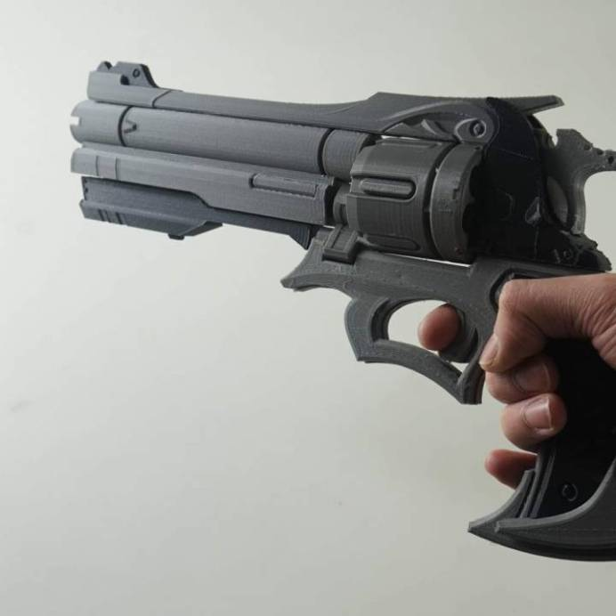 Overwatch McCree 3D Printed Revolver 4