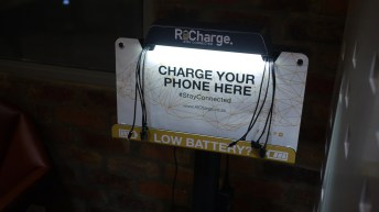If you're waiting for a meeting you can charge your phone. Clever idea.