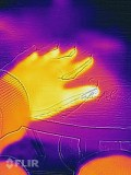 The FLIR app puts the thermal image on top of the regular image so you can see the two side by side at a later stage.