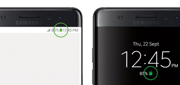 The battery icon will serve as a sign of safety, hopefully.