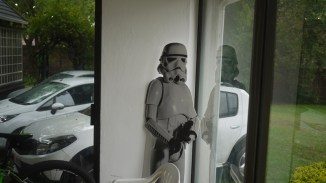 A Stromtrooper guards the entrance to DeeTwenty.