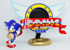 3D Printed Sonic the Hedgehog logo Image htxt.africa 2