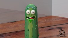Rick and Morty Pickle Rick 3D Print Pic 4
