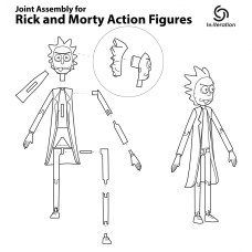 Rick and Morty Action Figure 3D Prints Pic 13
