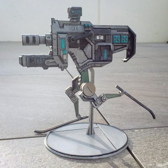 Borderlands Gun With Legs 3D Print 2