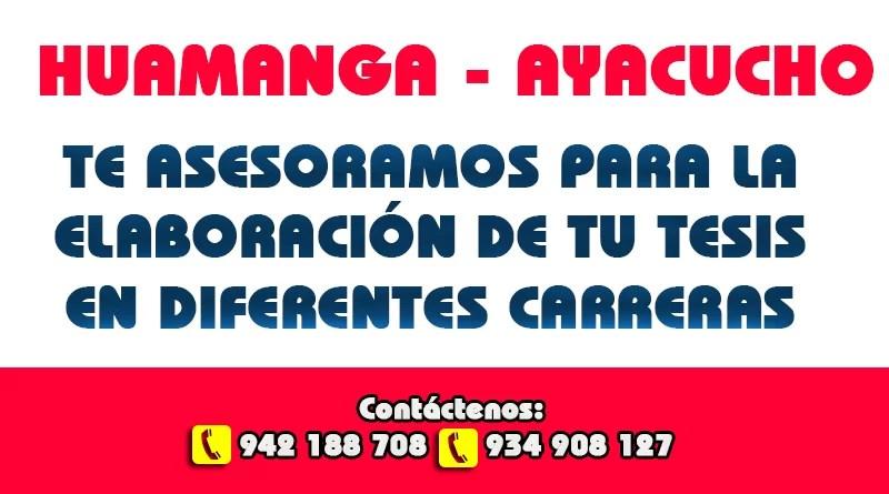 Asesoría de Tesis todas las Carreras en Ayacucho
