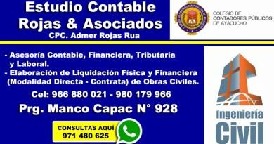 Estudio Contable Rojas Asociados Ayacucho Perú
