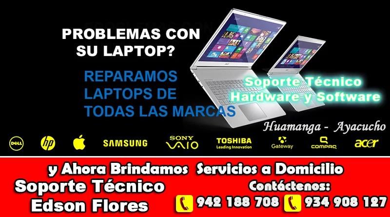 Servicio Tecnico de Laptop Ayacucho Edson Flores