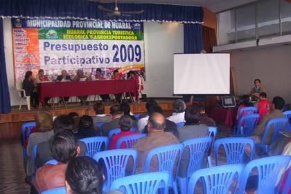 Presupuesto Participativo 2009 Huaral