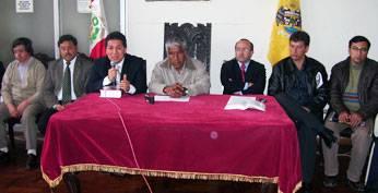 Conferencia de prensa realizado ayer