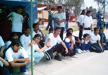 Participantes de las Instituciones Educativas  Especiales de Huaral y Chancay