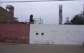 Construcion del puente peatonal de la institución ducativa Nuestra Señora del Carmen. Foto archivo