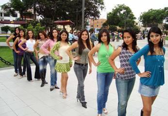 Señoritas candidatas de Miss Chancay