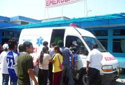 Fue trasladado a emergencia del Hospital de Huaral