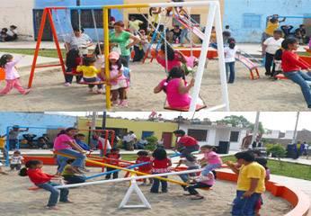 Parque recreativo en el centro poblado de Caqui