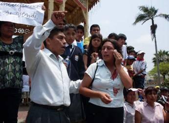 Profesores en protesta contra municipalización educativa