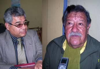 Ángel Sánchez (Presidente de CFPL) y el periodista Anibal Morales Zampa