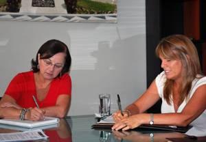 Ministra Fernández se reunió con Cayetana Aljovín, de Pro Inversión