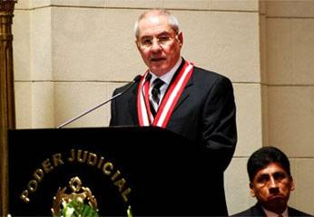 Javier Villa Stein, Presidente del Poder Judicial
