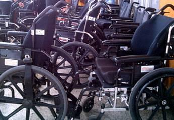 Sillas de ruedas donado por CONADIS y fundación Purinapaq