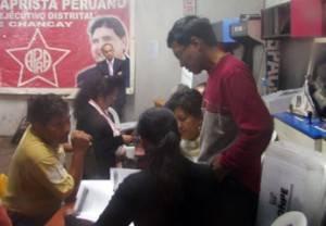 durante el conteó de votos.