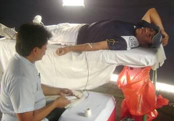 Foto archivo. campaña de donación de sangre  que realizó el hospital.