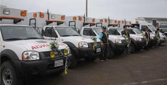 Una de las 12 ambulancias será para el distrito de Chancay