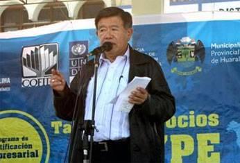 Presidente Regional de Lima Nelson Chui Mejía.