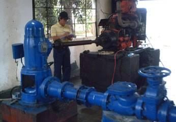 Motores de los pozos de Emapa Huaral.