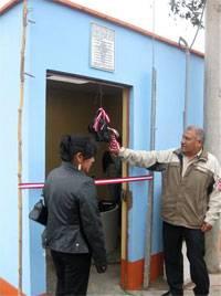 Red de agua potable en Asociación de Vivienda Los Huartos de Santa Isabel