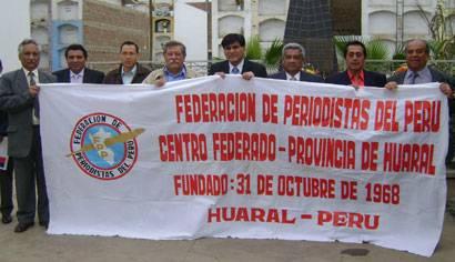 Periodistas del CFP de Huaral.