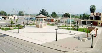 Plaza de armas del distrito de Aucallama.