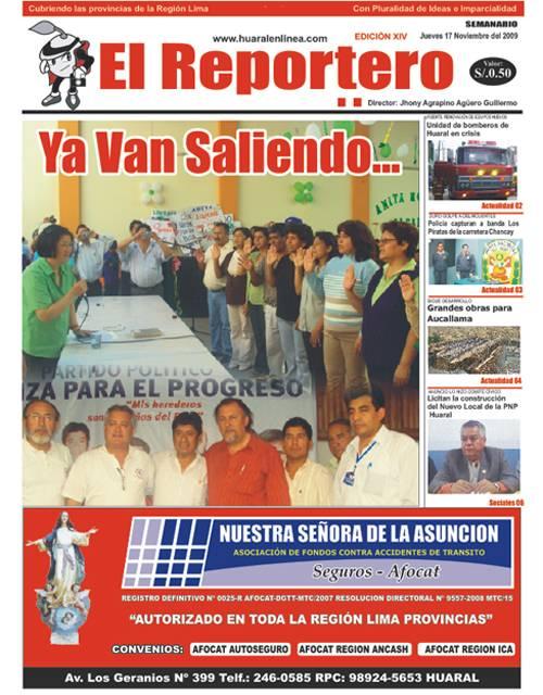Portada edición 14 - El Reportero Noviembre