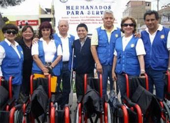 Integrantes del Rotary Club de La Molina Vieja
