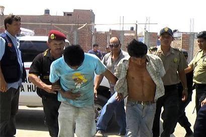 Los presuntos ladrones fueron trasladados a la comisaría de Huaral.