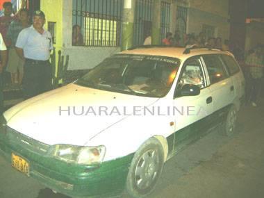 BALAZO EN EL AUTO CHANCAY