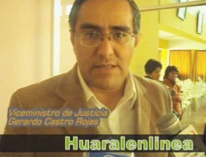 Gerardo Castro Rojas   ex vice Ministro Justicia
