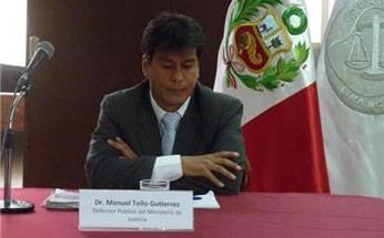 José Manuel Tello Gutiérrez, Abogado Defensor Público