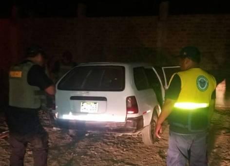 Recuperan un auto en el sector de la Caporal I  Huaral