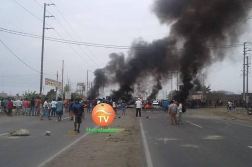 Autoridades apoyan protesta Huaralenlinea.com