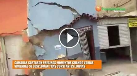 Dos viviendas se desploman tras constantes lluvias en Chiclayo